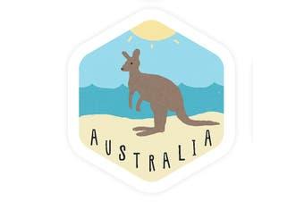 Sunday Paper Australia Kangaroo - Vinyl Bumper Sticker