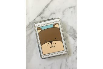 Double Sided Folding Pocket Compact Mirror [Style: Bear]
