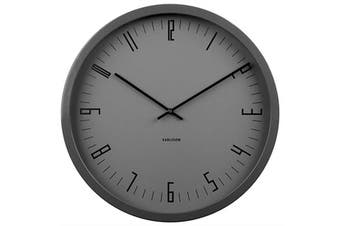 Karlsson Cased Index Wall Clock 44cm Steel Black