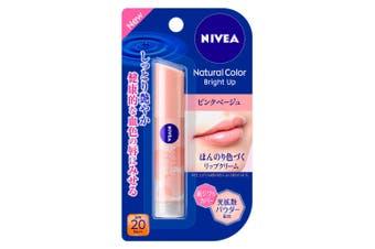 Kao Nivea Natural Color Bright Up Lip Balm SPF20 PA++ [Pink Beige]