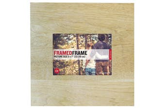 "IS Gift Light Wood Framed Frame 12x12"" Photo Size 5x7"""