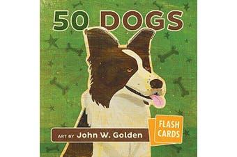 John W Golden 50 Dogs Flash Cards (Set Of 50)