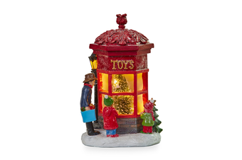 Christmas Tree Toy Shop Figurine LED Lights 27cm
