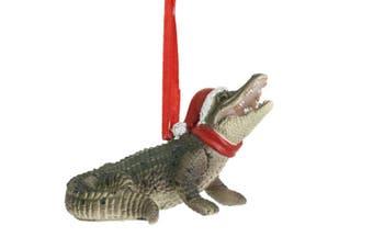 Australian Laying Crocodile Christmas Hanging Figure 8cm