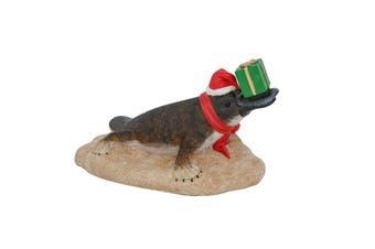 Australian Platypus with Christmas Present Figure 15cm