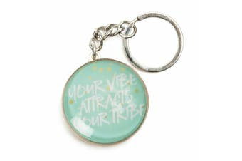 Inspiration Quotes Glass Domed Keyring Pastel Dreams Collection [Quote: Tribe]