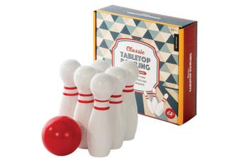 IS Gift Classic Wooden Tabletop Bowling Set