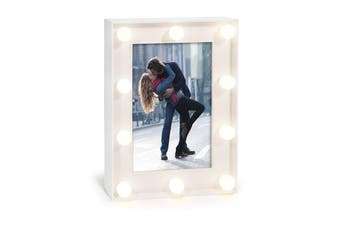 IS Gift Hollywood Lights Photo Frame Assorted Colours [Frame Colour: White]