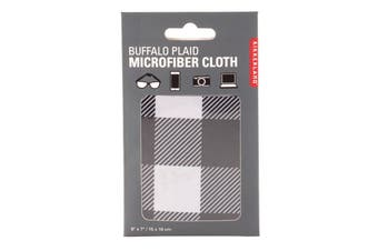 Kikkerland Buffalo Plaid Microfiber Cloth