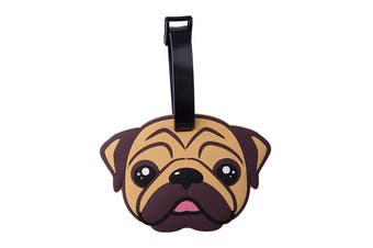 IS Gift Luggage Tag - Cats & Dogs [Animal: Pug]