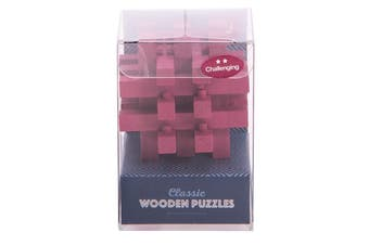 IS Gift Classic Wooden Puzzles [Colour & Difficulty Level: Pink & Challenging]