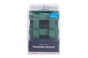 IS Gift Classic Wooden Puzzles [Colour & Difficulty Level: Green & Dilemma]