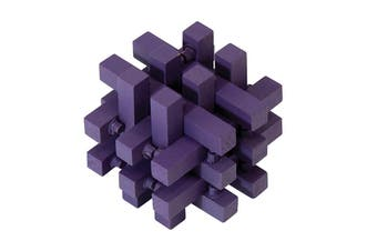 IS Gift Classic Wooden Puzzles [Colour & Difficulty Level: Purple & Dilemma]