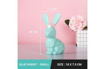 Nodic Geometric Origami Rabbit Decoration [Colour & Size: Blue & Small]