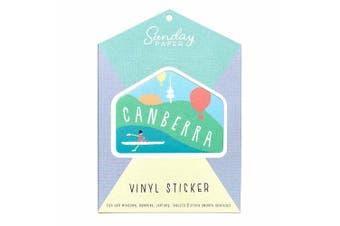 Sunday Paper Canberra - Vinyl Bumper Sticker