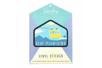 Sunday Paper Blue Mountains - Vinyl Bumper Sticker