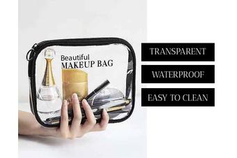 Beautiful Transparent Waterproof Makeup Clear Zipped Bag