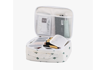 Pack-in-Style Multifunctional Cosmetics Travel Organiser [Pattern: White Cactus]