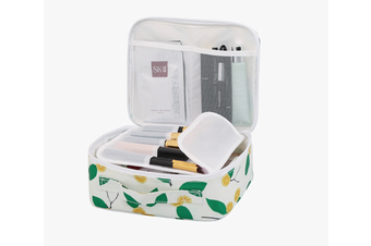Pack-in-Style Multifunctional Cosmetics Travel Organiser [Pattern: White Yuzu]