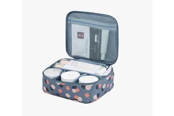 Pack-in-Style Multifunctional Waterproof Cosmetics Travel Organiser [Pattern: Blue Flowers]