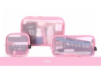 Pack-in-Style Tolietries and Electronics Waterproof Travel Organisers (3pc) Set [Colour: Pink]