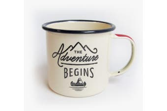 Gentlemen's Hardware The Adventure Begins Enamel Mug White