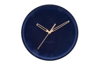 Karlsson Lush Velvet Dark Blue Wall Clock