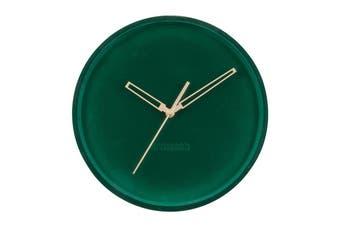 Karlsson Lush Velvet Dark Green Wall Clock