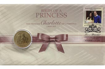 2015 The Birth of HRH Princess Charlotte PNC $1 Coin