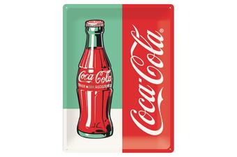 Nostalgic Art Coke Bottle Pop Art A3 Embossed Metal Sign 30 x 40cm