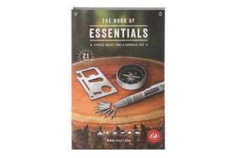 IS Gift The Book of Essentials 3 pcs Multitools and Compass Set