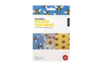 IS Gift Reusable Beeswax Food Wraps (Set of 3) - Bees