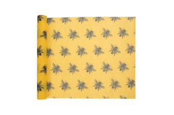 IS Gift ReusableBeeswax FoodWrap Bees 1M - Yellow