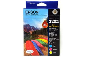 Epson 220XL DURABrite Ultra - 4  Cartridge Value Pack CMYK