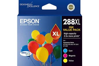 Epson 288XL High Capacity DURABrite Ultra - Three Ink Pack