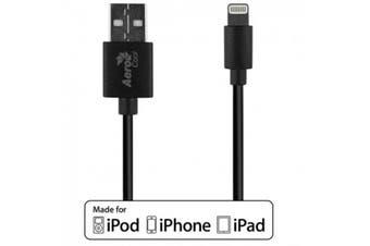 AeroCool Premium MFI 8 Pin Lightning to USB Cable 1M - Black