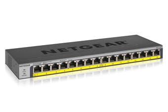 Netgear 16-Port PoE+ 183W Gigabit Ethernet Unmanaged Switch (GS116PP-100AJS)