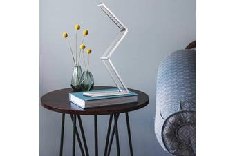 LEDware Foldable USB Lamp with 2 Level Brightness Adjustable in Silver