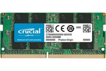 Crucial 16GB Single DDR4 SODIMM 2666MHz 260-Pin Memory (CT16G4SFD8266)