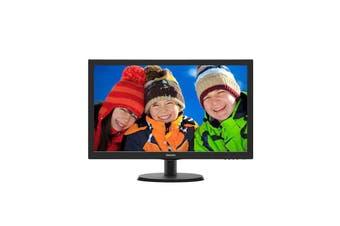 "Philips 23.6"" 243V5QHABA 8ms VGA/DVI/HDMI/SPK LED Monitor"