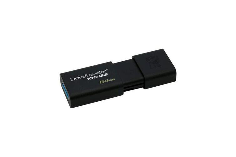 Kingston DataTraveler 100 G3 - 64GB USB 3.0 Flash Drive (DT100G3/64GB)