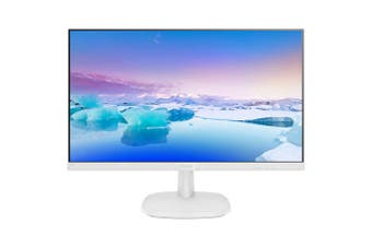 "Philips 243V7QDAW 23.8"" FHD IPS White Monitor"