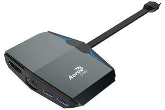 AeroCool USB Type-C Multifunction Adapter with LAN, HDMI, USB-C