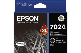 Epson 702XL High Capacity DURABrite Ultra Black Ink Cartridg