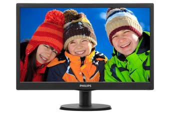 "Philips 18.5"" HD HDMI/VGA LCD Monitor (193V5LHSB2)"