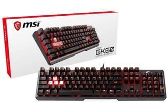 MSI Vigor GK60 CR Gaming Keyboard - Cherry MX Red
