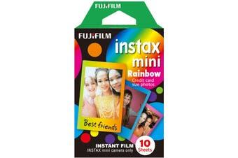 Fujifilm Instax Mini Rainbow Instant Film (10 sheets) HT