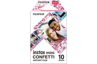 Fujifilm Instax Mini Film, Confetti (10 Exposures) HT