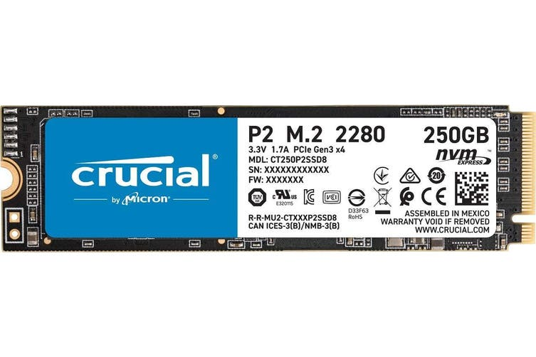 Crucial P2 250GB NVMe M.2 PCIe 3D NAND SSD (CT250P2SSD8) HT