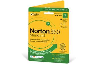 Norton 360 Standard Antivirus software for 1 Device 1 Year